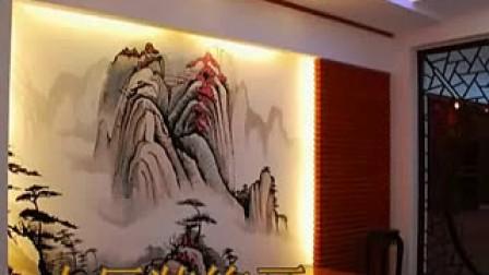 青岛手绘,手绘墙,装饰画,壁画,黑白画装饰画