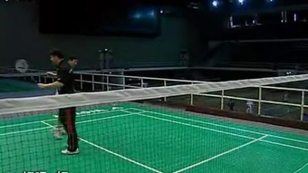1发力教学羽毛球教学专家把脉17后场打高远球发力方法反手后场球运动生理常识学打羽毛球比赛单打视频