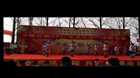 褚蘭鎮廣場舞大賽二等獎京劇唱花臉隊形版