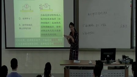 人教版生物高三《通过神经系统的调节》优质课教学视频,马方