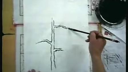 高二美术优质课展示《国画松树》(高中美术优质课选录)