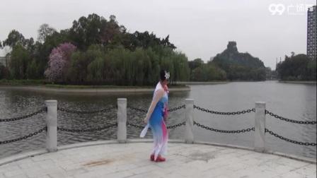 踏青背面表演 北雀舞之韵广场舞