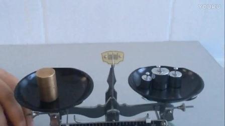 初中物理《实验:测量质量》微课视频,王可新