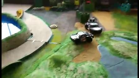 遥控坦克大战军事场景游戏沙盘制作