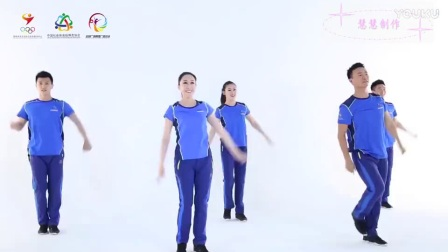 广场舞最美的中国教学演示(正面)