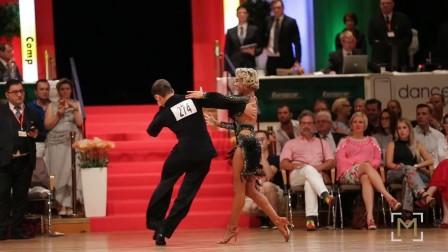 桑巴 Maxim Stepanov-Ksenya Rybina_danceComp Wuppertal 2017-