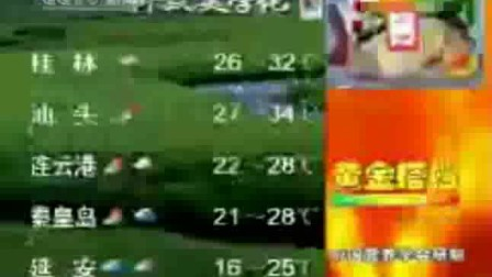 新聞聯播天氣預報片尾(20030814)