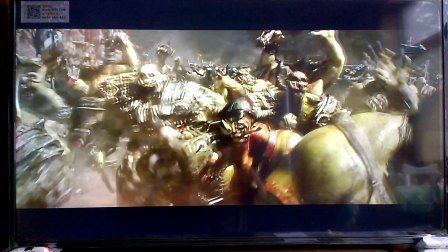 暴风TV 55AI4A 4K专区在线片源《魔兽》屏摄