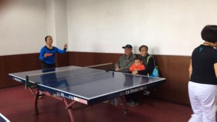 今天乒乓球比赛,玩的开心就好
