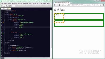 千锋java教程html-css精讲:第04章-网页布局-03-浮动