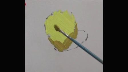 [色彩客] 杭州色彩龚永光色彩教学 单体塑造-苹果