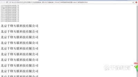 千锋Html5视频教程:02_css基础_第2节 Css常用选择符