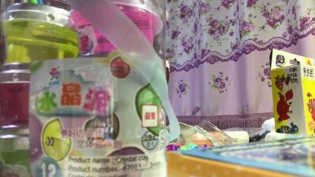#童童玩具视频#多色颜料盘,五彩吸铁石,水晶泥,彩泥一起玩啦(上)