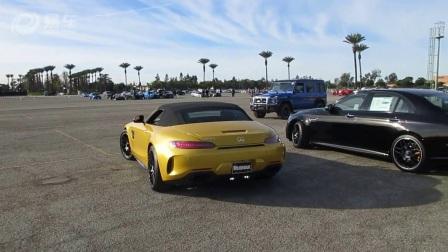 街拍2018奔驰AMG GT C Roadste新款车真招风