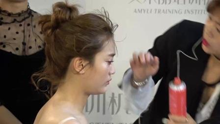 新娘盤發圖片77韓式新娘妝培訓