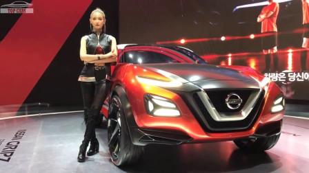 2018dj汽车美女 顶级汽车 Nissan Gripz概念车第一次亮