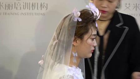 新娘盤發圖片55韓式新娘妝培訓