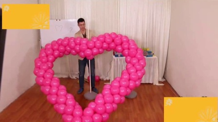 魔法气球教程太阳花1魔术气球婚庆布置气球(22)1气球装饰造型教程