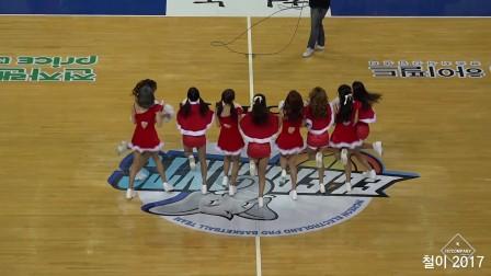 171225 三山世界体育馆 啦啦队美女 热场应援