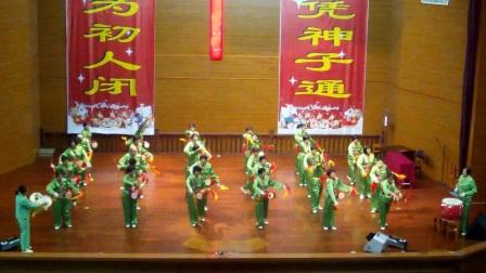 谢塘基督教堂2017庆祝圣诞 中老年诗班腰鼓演奏