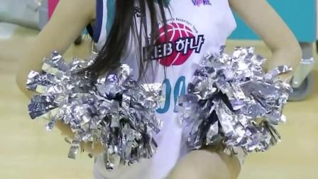 180106 韩国职业篮球联赛 啦啦队美女 안지현 热场