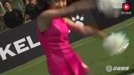 啦啦队热舞表演,粉色短裙活力四射!太惊艳了