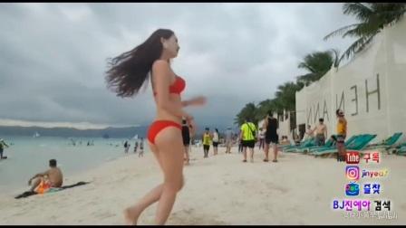 【afreecatv韩国女主播】BJ金叶在沙滩热舞 171127
