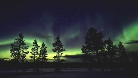 SPHJ-553-大自然风景北极光唯美实拍视频