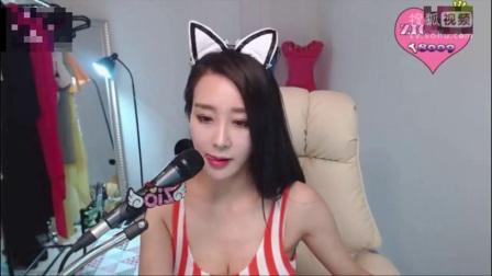 韩国美女主播韩智吾小短裙性感热舞