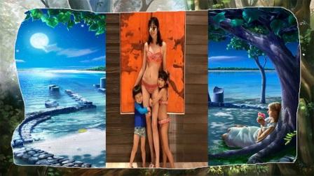 陈浩民老婆穿比基尼秀身材,32岁生4个娃肚子没疤