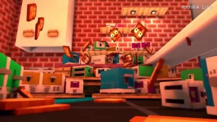 我的世界搞笑动画片第十四弹,面包烤熟了