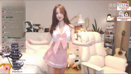 韩国女主播艾琳 粉色学生制服性感热舞