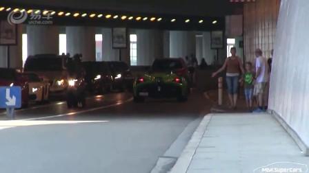 霸气十足!街拍绿色的另类敞篷超跑!
