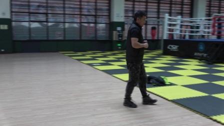 西安外事学院体育运动中心搏击馆寒假学员练习