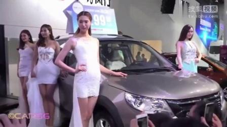韩国车展 高挑美女车模性感走秀 肉丝袜美腿女神