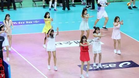 180206 韩国职业排球联赛 啦啦队美女 김한나 안지