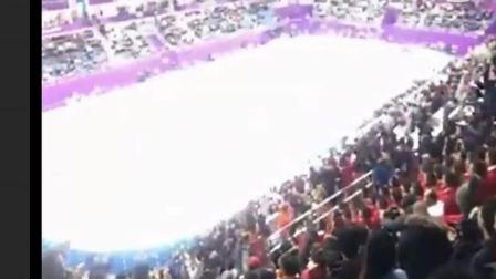 壮观,朝鲜美女啦啦队,多角度看,平昌冬奥,