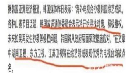 中国综艺抄袭严重遭韩媒点名官方批评这些节目