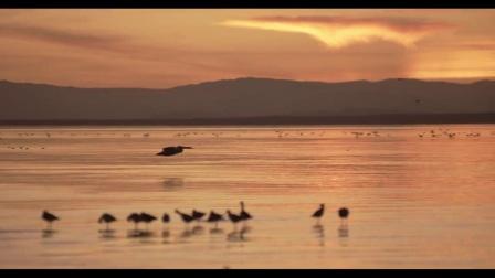 航拍纪录片高清视频视频素材江面日出日落延时