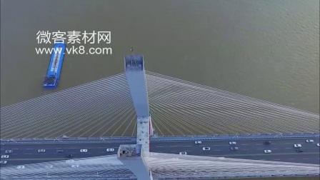 18sp872 实拍航拍长江二桥闯将武汉城市宣传片高清