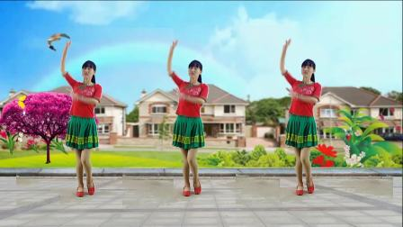 点击观看《超级简单的初学者32步广场舞 缘分来了我就爱上你 阳光溪柳广场舞》