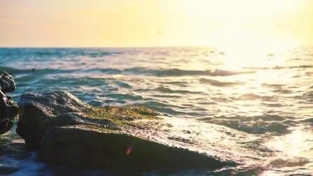 浪漫大气海洋海浪风光海边LED宣传片广告视频抒