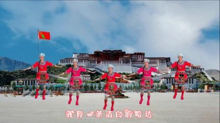 点击观看《王妹儿广场舞 哈达 藏舞》