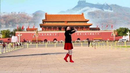 宜阳明萱广场舞 北京的金山上 动感水兵舞 编舞 春英 革命歌曲红歌唱万丈