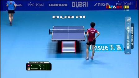 兵乓球世界杯女团4强 北韩vs日本之26