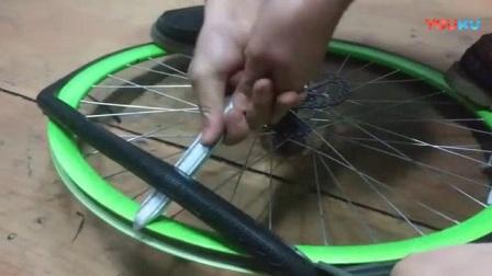 我在死飞自行车  公路自行车 自行车真空胎  实心胎  通用安装视频   30   40   50   60   70  刀圈可装截了一段小视频