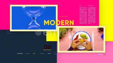 时尚活力彩色节奏感青春创意栏目活动广告视频
