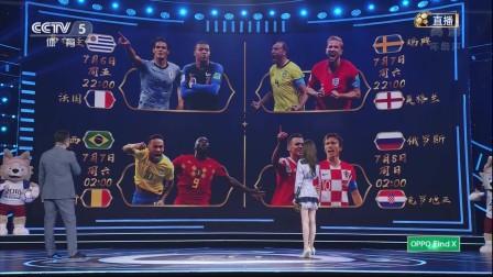 俄罗斯世界杯八强已然决出 张斌希望新星冠军强队出现