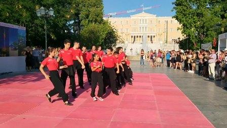 """2018.7.6:希腊雅典街拍的""""中国少林武术""""表演"""