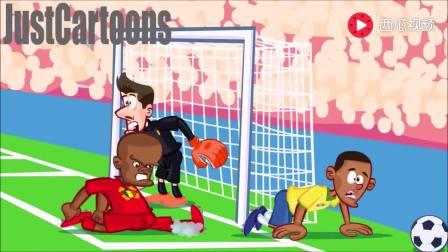 国外动画恶搞巴西1-2比利时, 内马尔领衔假摔成亮